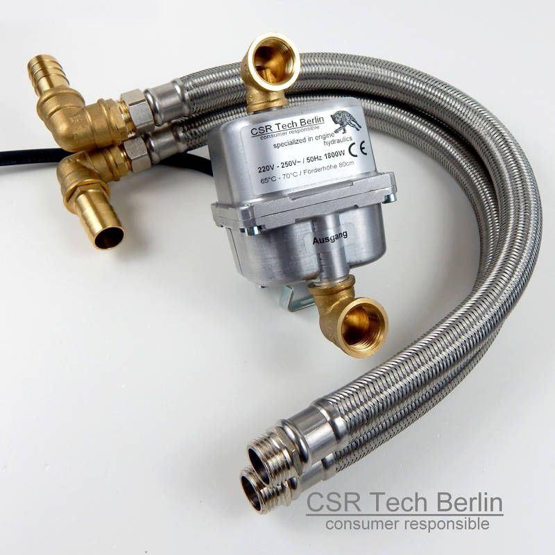 Motorvorwärmer 230V 1800w mit DN16 Flexschlauch 19 oder 16mm Schlauchanschluss CSR Tech Berlin consumer responsible specializing in engine hydraulics